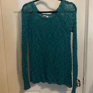 Spotty teal sweater